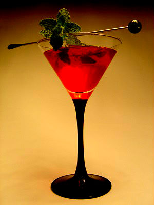 Cranberry elevator cocktail